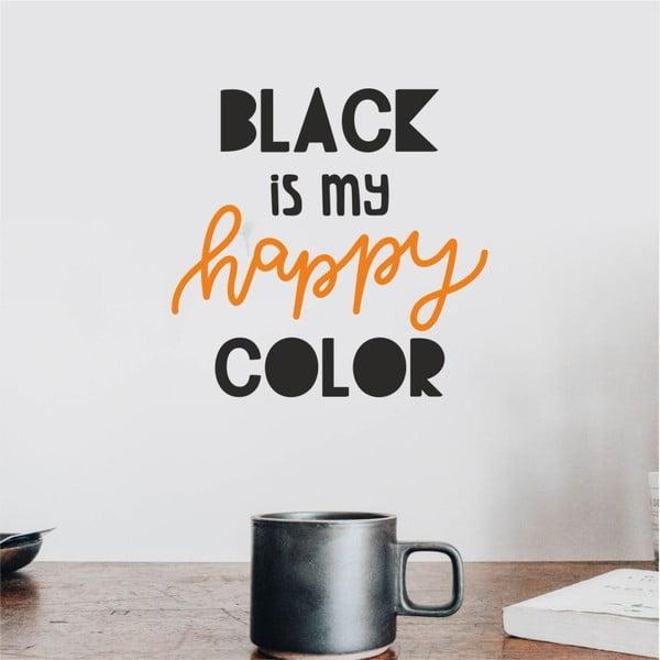Motto V11 fekete-narancssárga falmatrica - North Carolina Scandinavian Home Decors