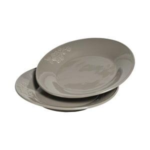 Sada talířů Sorento 2 ks, šedé