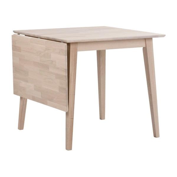 Matně lakovaný sklápěcí dubový jídelní stůl Rowico Mimi, délka 80-125cm