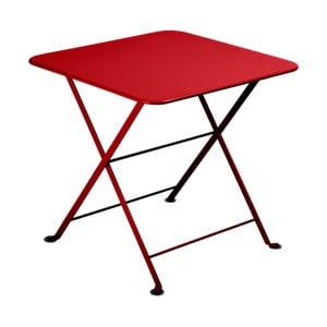 Červený dětský skládací kovový stůl Fermob Tom Pouce