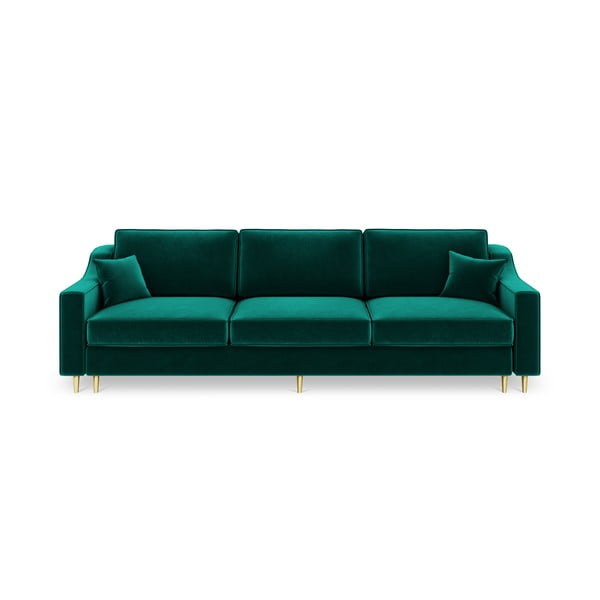 Zelená trojmiestna rozkladacia pohovka Mazzini Sofas Marigold