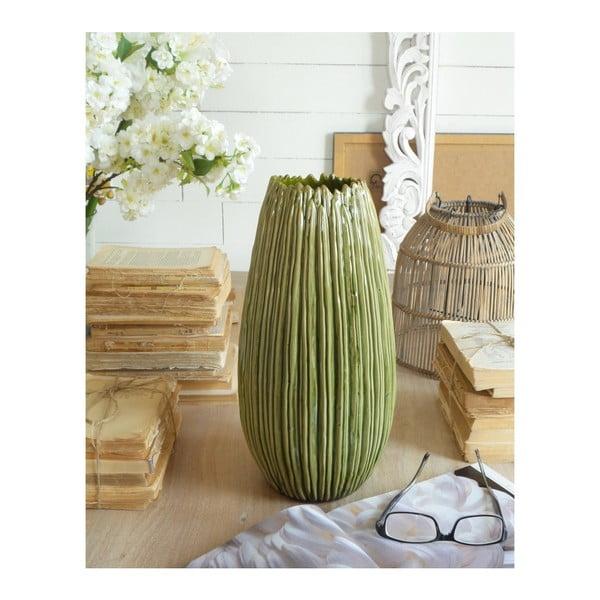 Arizona High zöld kerámia váza, magasság 37 cm - Orchidea Milano
