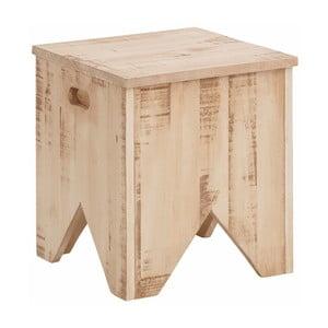 Krémová úložná truhla  z masivního borovicového dřeva Støraa Marilyn