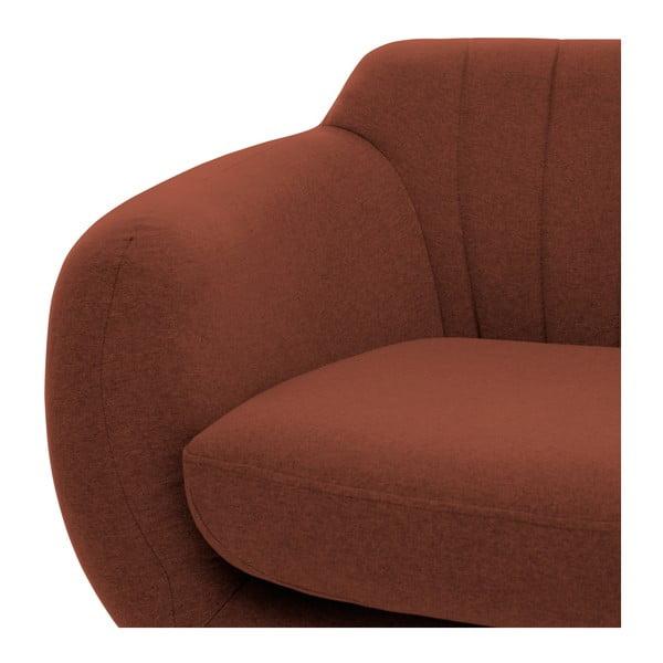 Canapea cu 3 locuri Vivonia Kennet, roșu închis