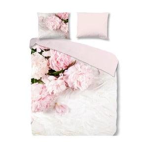 Světle růžové povlečení na jednolůžko Muller Textiels Peonies, 140x200cm