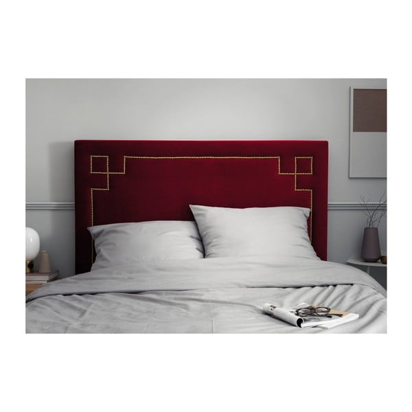 Červené čelo postele THE CLASSIC LIVING Nicolas, 120 x 180 cm