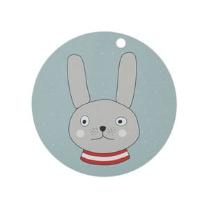 Dětské silikonové prostírání OYOY Rabbit, ⌀ 39 cm