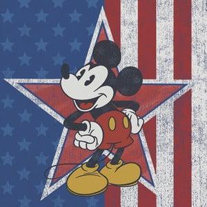 Obraz Pyramid International Mickey Mouse American Star, 40 x 40 cm