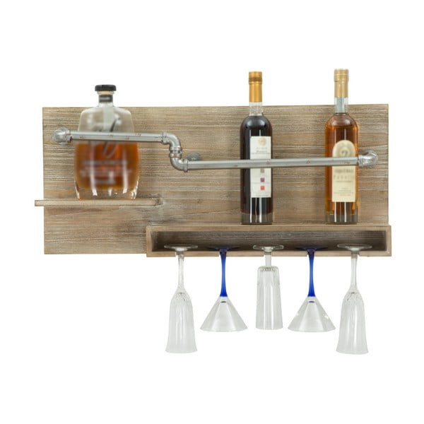 Suport de perete pentru sticle și pahare Mauro Ferretti Pipe Bar, 30 x 70 cm