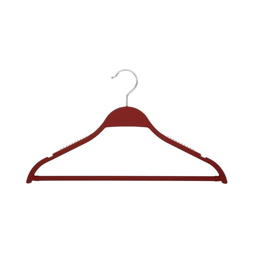 Červené ramínko se zářezy s kalhotovou tyčí Cosatto Hanger