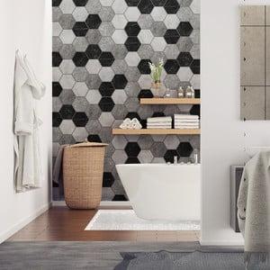 Set 28 autocolante Ambiance Hexagons Marble, 10 x 9 cm