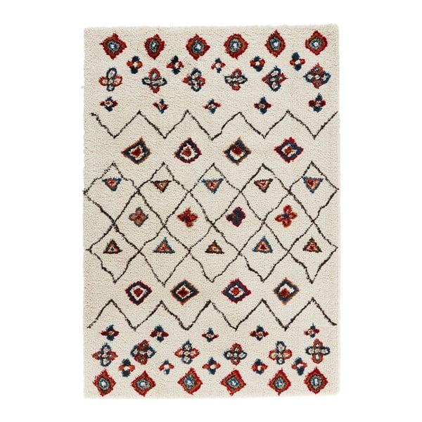 Krémovo-červený koberec Mint Rugs Allure Ronno Creme, 120 x 170 cm