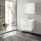 Koupelnová skříňka s umyvadlem a zrcadlem Flopy, odstín bílé, 60 cm