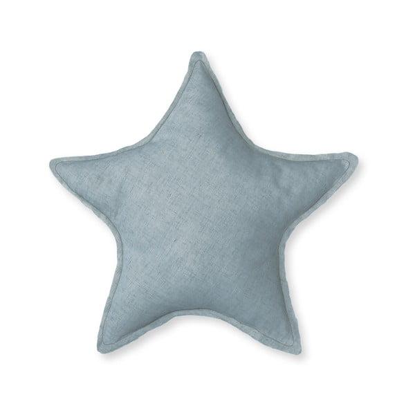 Modrý dekorativní polštář Little Nice Things Star