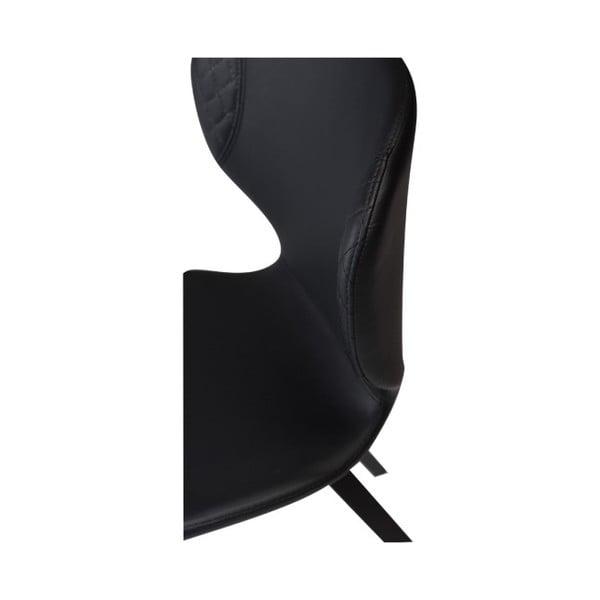 Černá jídelní židle DAN–FORM Hawk