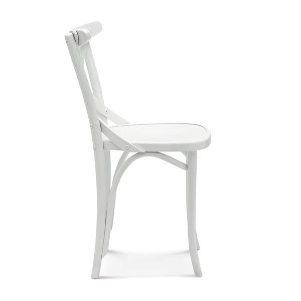 Sada 2 bílých dřevěných židlí Fameg Knud