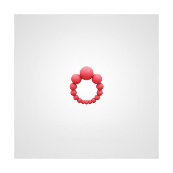 Prsten 3 Bubbles korálová červená