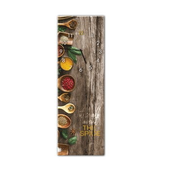Ceas de perete Styler Glassclock Spice, 20 x 60 cm imagine