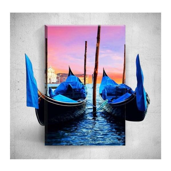 Nástěnný 3D obraz Mosticx Venice Boats, 40 x 60 cm