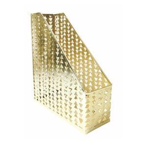 Kovový organizér na dokumenty ve zlaté barvě Portico Designs