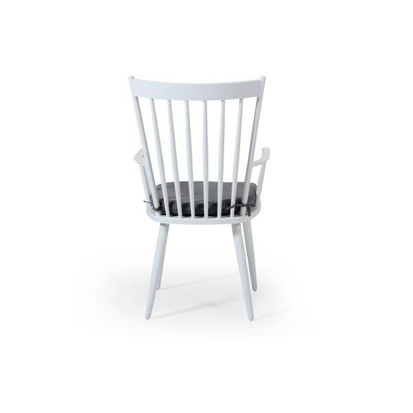 Sada 2 bílých zahradních židlí Brafab Alvena
