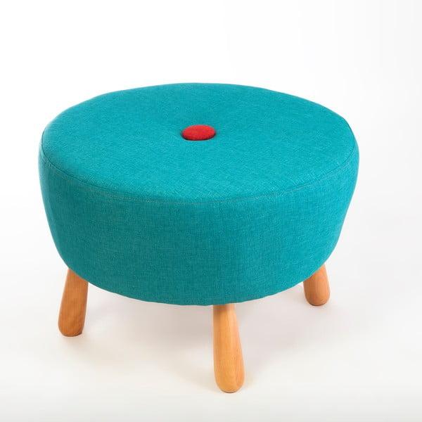 Tyrkysová sedací taburetka Doude
