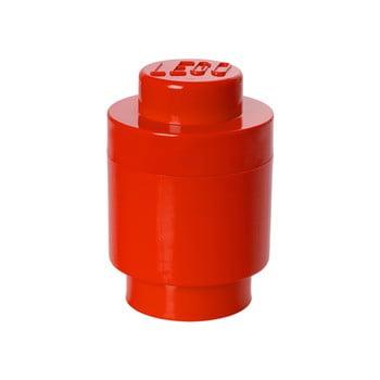 Cutie depozitare rotundă LEGO®, roșu, ⌀ 12,5 cm