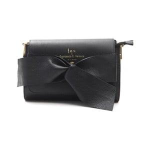 Černá kožená kabelka f.e.v. by Francesca E. Versace Calima