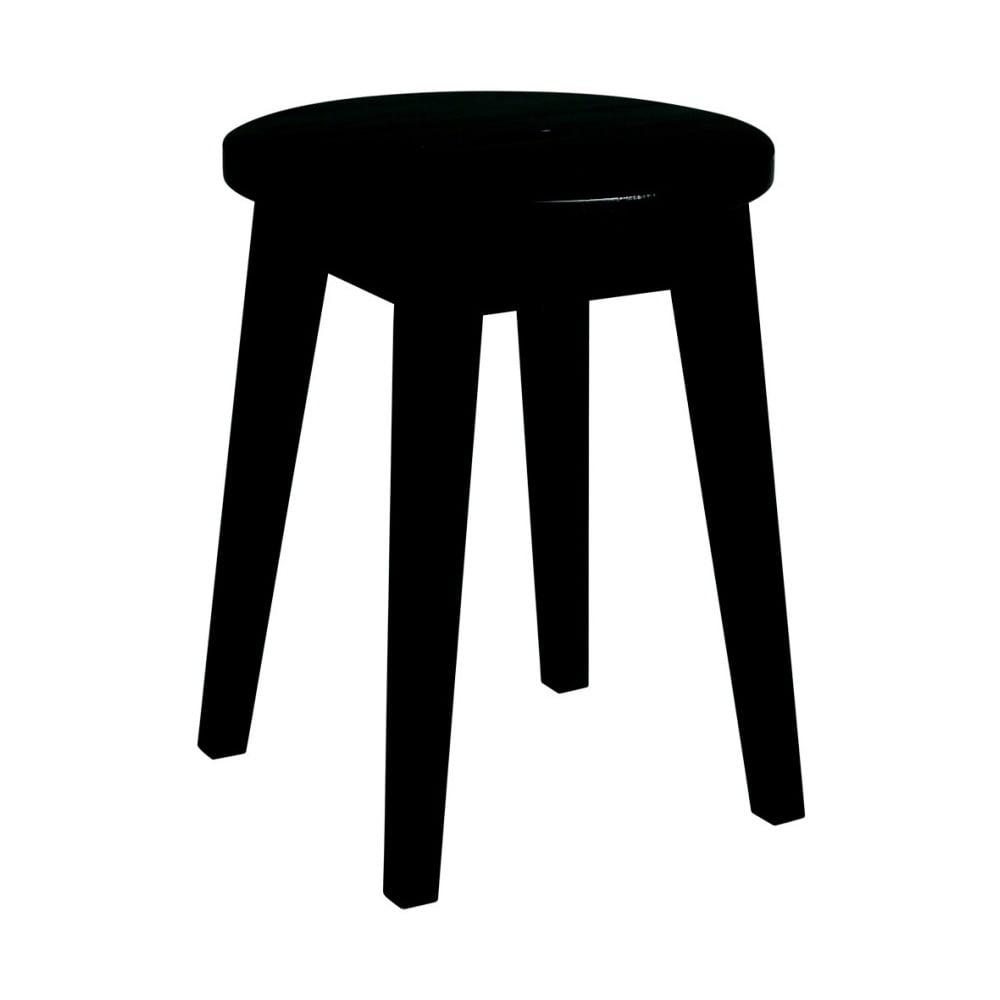 Černá nízká dubová stolička Rowico Frigg