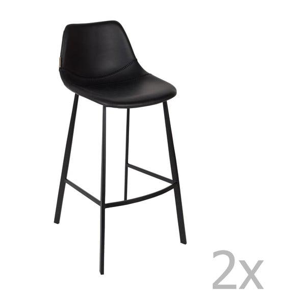 Set 2 scaune bar Dutchbone Franky, înălțime 106 cm, negru