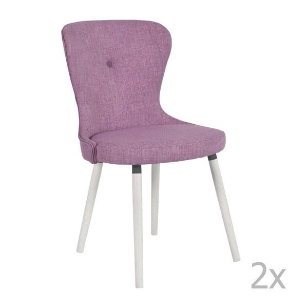 Sada 2 růžových židlí RGE Betty