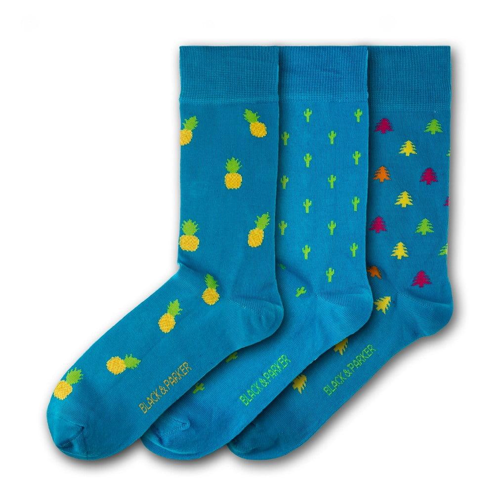 Sada 3 párů unisex ponožek Black&Parker London Morrab Gardens, velikost 37 - 43