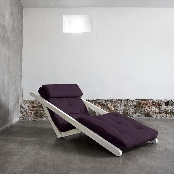 Fotoliu Karup Figo White/Purple, 70 cm
