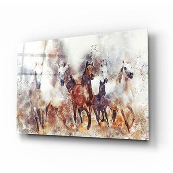 Tablou din sticlă Insigne Horses II.