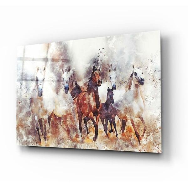 Horses II. üvegezett kép - Insigne