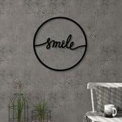 Decorațiune metalică pentru perete Smile, ⌀ 40 cm