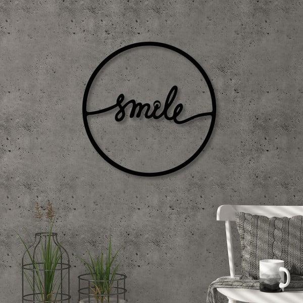 Metalowa dekoracji ścienni Smile, ⌀ 40 cm
