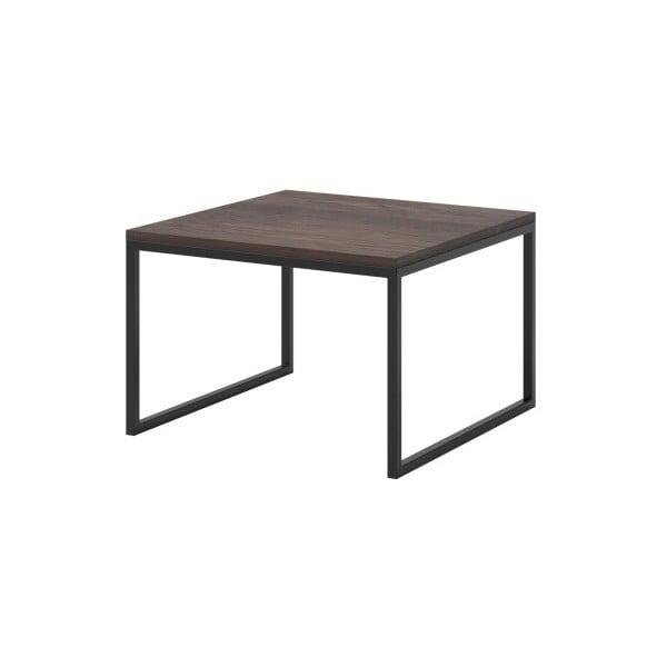 Hnědý konferenční stolek s černými nohami MESONICA Eco, 60 x 40 cm