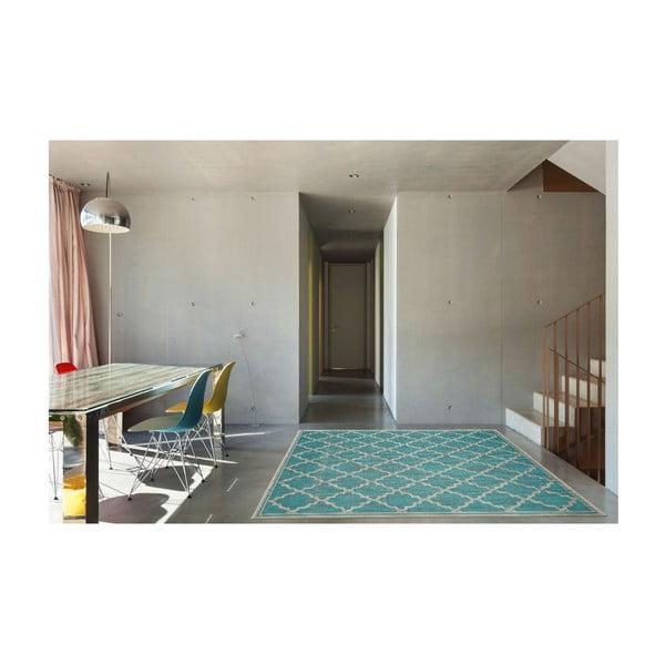 Covor rezistent Floorita Intreccio Turquoise, 200 x 290 cm, turcoaz