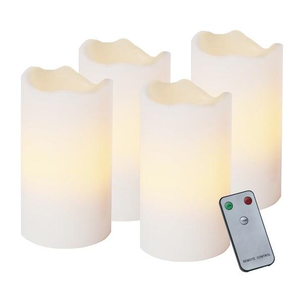 Sada 4 LED svíček s dálkovým ovladačem Best Season Wachs, výška 13 cm