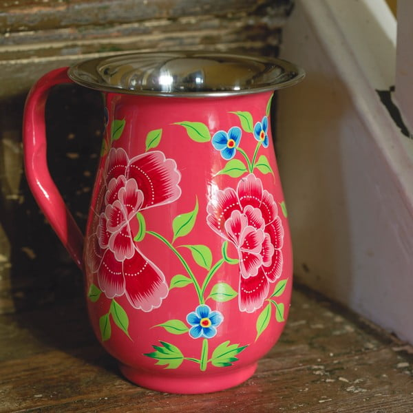 Džbán Franjipani Floral Jug, růžový