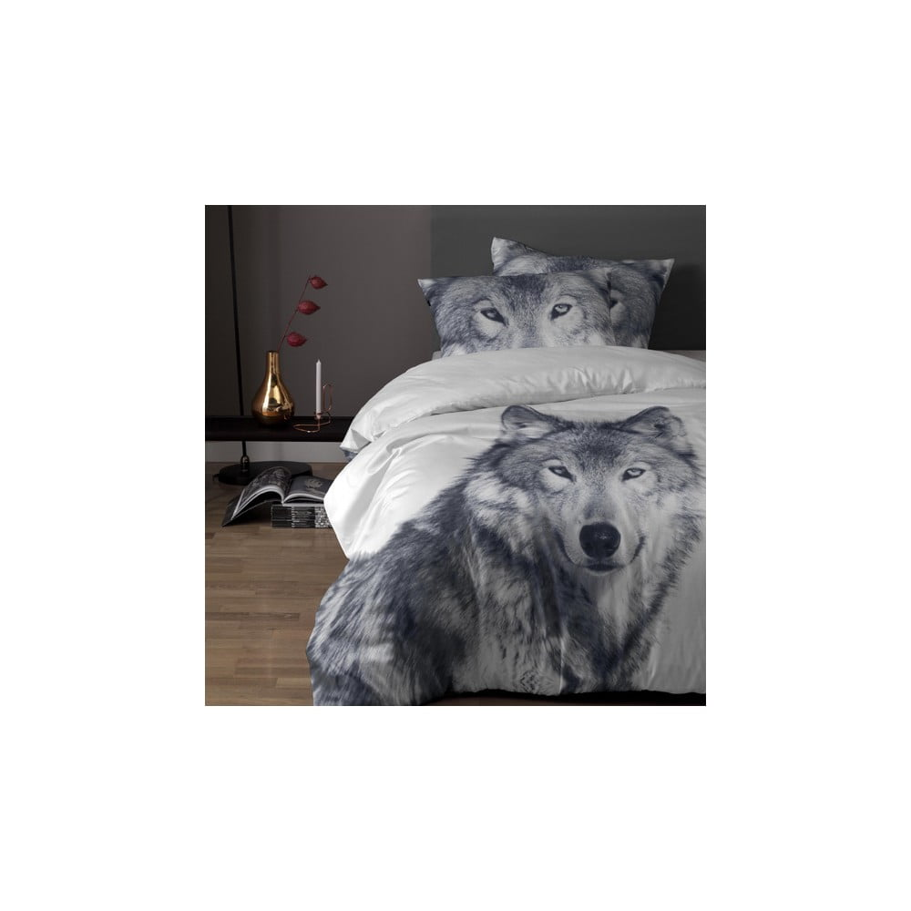 Produktové foto Bavlněné povlečení na jednolůžko Damai White Husky, 200x140cm