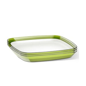 Servírovací talíř Venice 24x24 cm, zelený