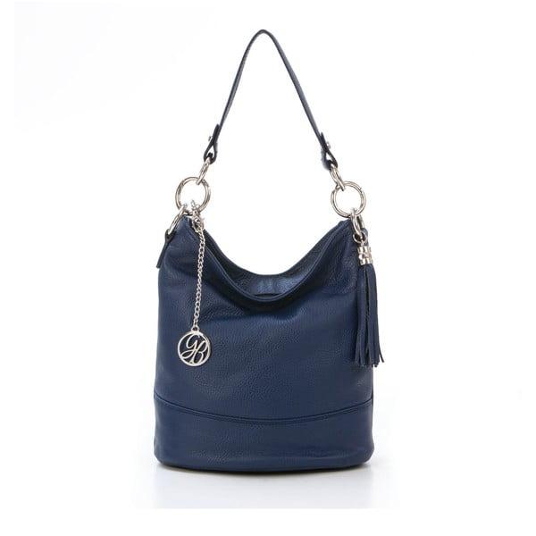 Kožená kabelka Luigi, tmavě modrá