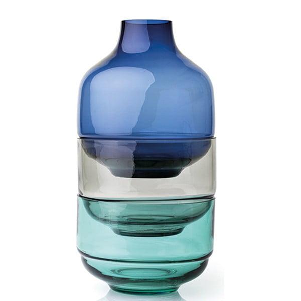 Sada 3 velkých modrých skleněných misek LEONARDO Fusione