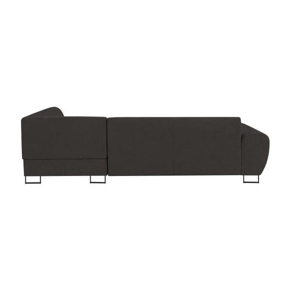 Canapea extensibilă cu spațiu pentru depozitare Kooko Home XL Left Corner Sofa Piano,gri închis