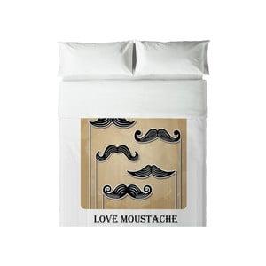 Povlečení Hipster Love Moustache, 200x200 cm