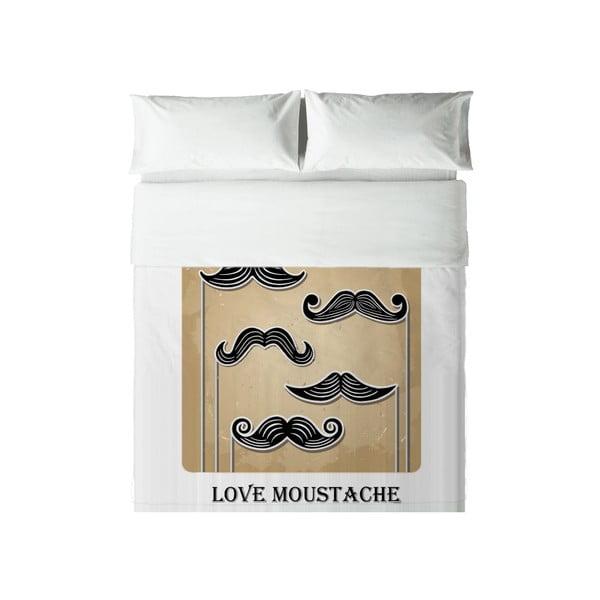 Povlečení Hipster Love Moustache, 240x220 cm