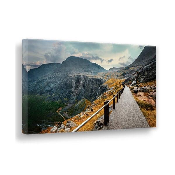 Tablou imprimat pe pânză Styler Norway Mountains, 115 x 87 cm