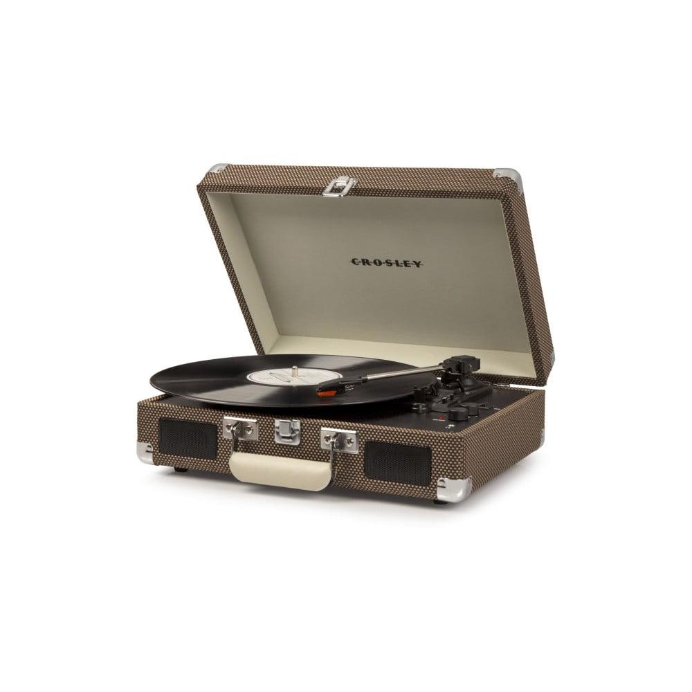 Hnědý gramofon Crosley Cruiser Deluxe